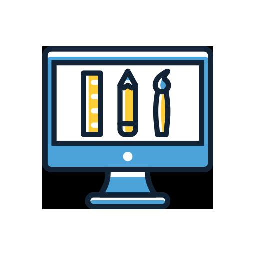 Brand Design Tools on Computer Screen